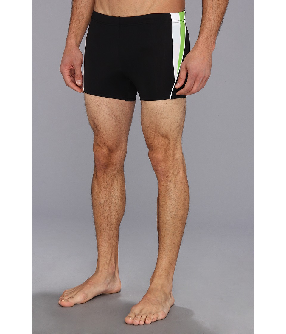 Speedo - Fitness Splice Square Leg (Black) Men's Swimwear