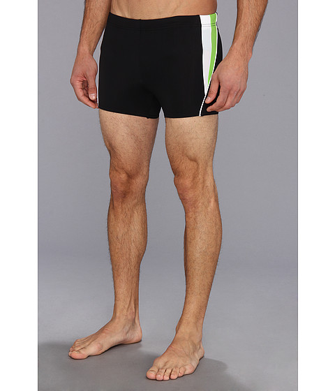 Speedo - Fitness Splice Square Leg (Black) Men