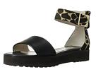 10 Crosby Derek Lam - Dyls (Black Lux Calf/Camel/Black Giraffe Print Haircalf) - Footwear