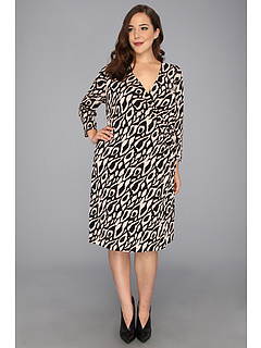 SALE! $56.99 - Save $81 on Tahari by ASL Plus Plus Size Willie Printed Wrap Dress (Black Natural) Apparel - 58.70% OFF $138.00