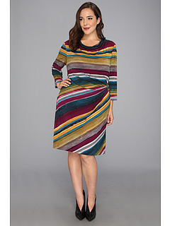 SALE! $59.99 - Save $88 on Tahari by ASL Plus Plus Size Vincent Dress (Wine Teal Gold) Apparel - 59.47% OFF $148.00