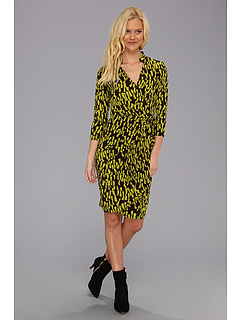 SALE! $44.99 - Save $53 on Maggy London L S Print MJ Wrap Dress Monotone Dress (Java Pear) Apparel - 54.09% OFF $98.00