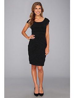 SALE! $46.99 - Save $111 on Maggy London Pleat Mesh Tier Dress (Black) Apparel - 70.26% OFF $158.00