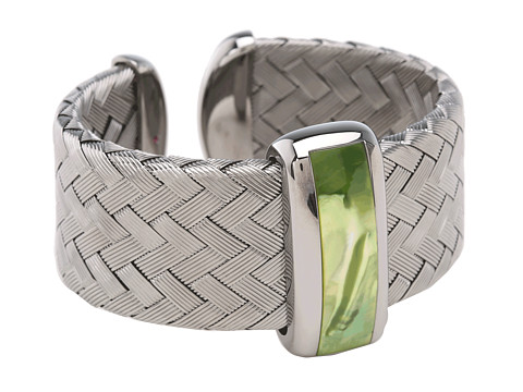 Roberto Coin - Woven Bangle with Green Mother Of Pearl (Green Mother of Pearl) Bracelet