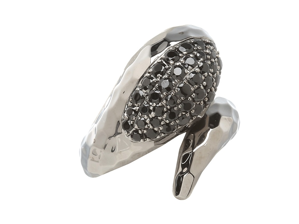Roberto Coin - Snake Ring with Black Spinel (Black Spinel) Ring
