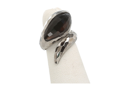 Roberto Coin - Snake Ring with Smoky Quartz (Smoky Quartz) Ring