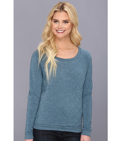 Alternative - Clark Raglan (Tokyo Teal) Women's Long Sleeve Pullover