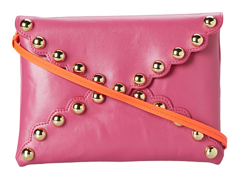 Franchi Handbags - Raven Clutch (Fuchsia) Clutch Handbags