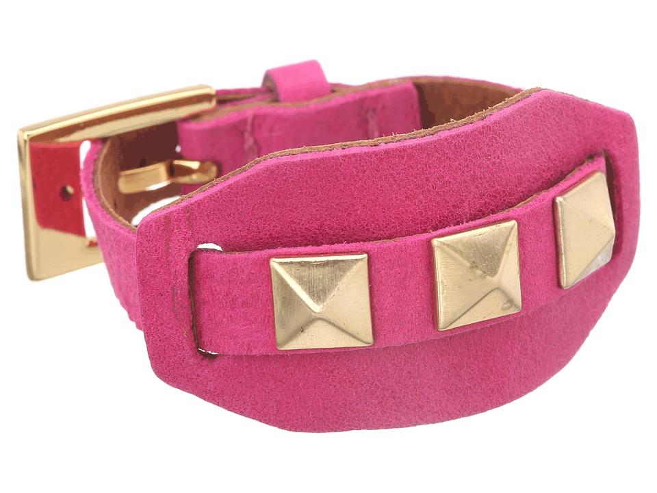 gorjana - Sunset Pyramid Stud Cuff Bracelet (Fuchsia/Clay) Bracelet