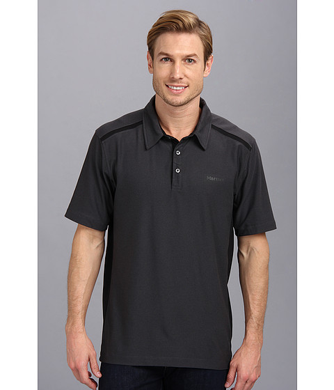 Marmot - Belmont Polo S/S (Black) Men's Short Sleeve Knit