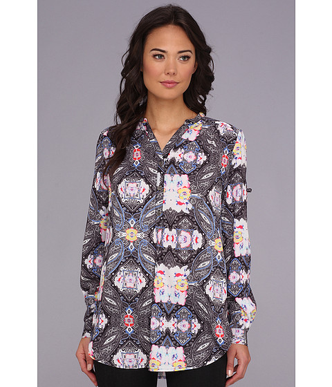 MINKPINK - Lonely City Shirt (Multi) Women's Long Sleeve Button Up