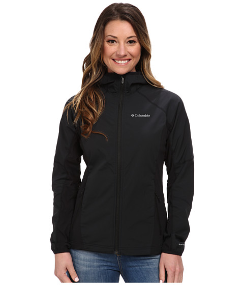 Columbia - Sweet As Softshell Hoodie (Black) Women's Coat