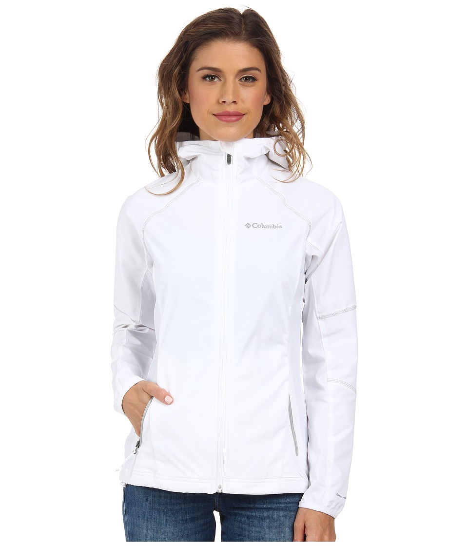 Columbia - Sweet As Softshell Hoodie (White//Soft Metal) Women's Coat