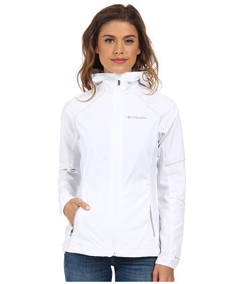 Columbia - Sweet As Softshell Hoodie (White//Soft Metal) Women