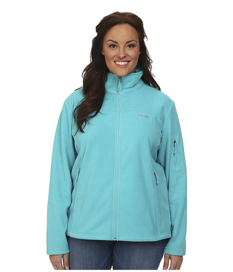 Columbia - Plus Size Fast Trek II Full Zip Fleece Jacket (Geyser) Women's Coat