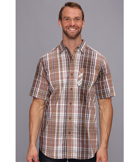 Columbia - Big Tall Decoy Rock S/S Shirt (Camo Brown Plaid) Men