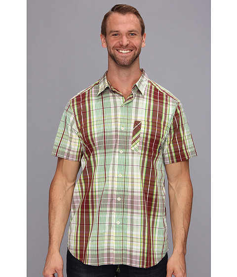 Columbia - Big Tall Decoy Rock S/S Shirt (Red Rocks Plaid) Men's Short Sleeve Button Up