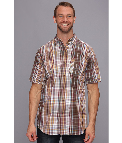 Columbia - Decoy Rock S/S Shirt - Tall (Camo Brown Plaid) Men