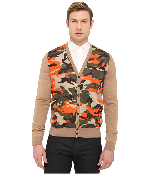 DSQUARED2 Camouflage Cardigan (Camel Camouflage) Men's Sweater