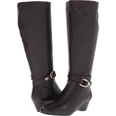 Bandolino Atchison Wide Calf (Dark Brown Leather) Footwear