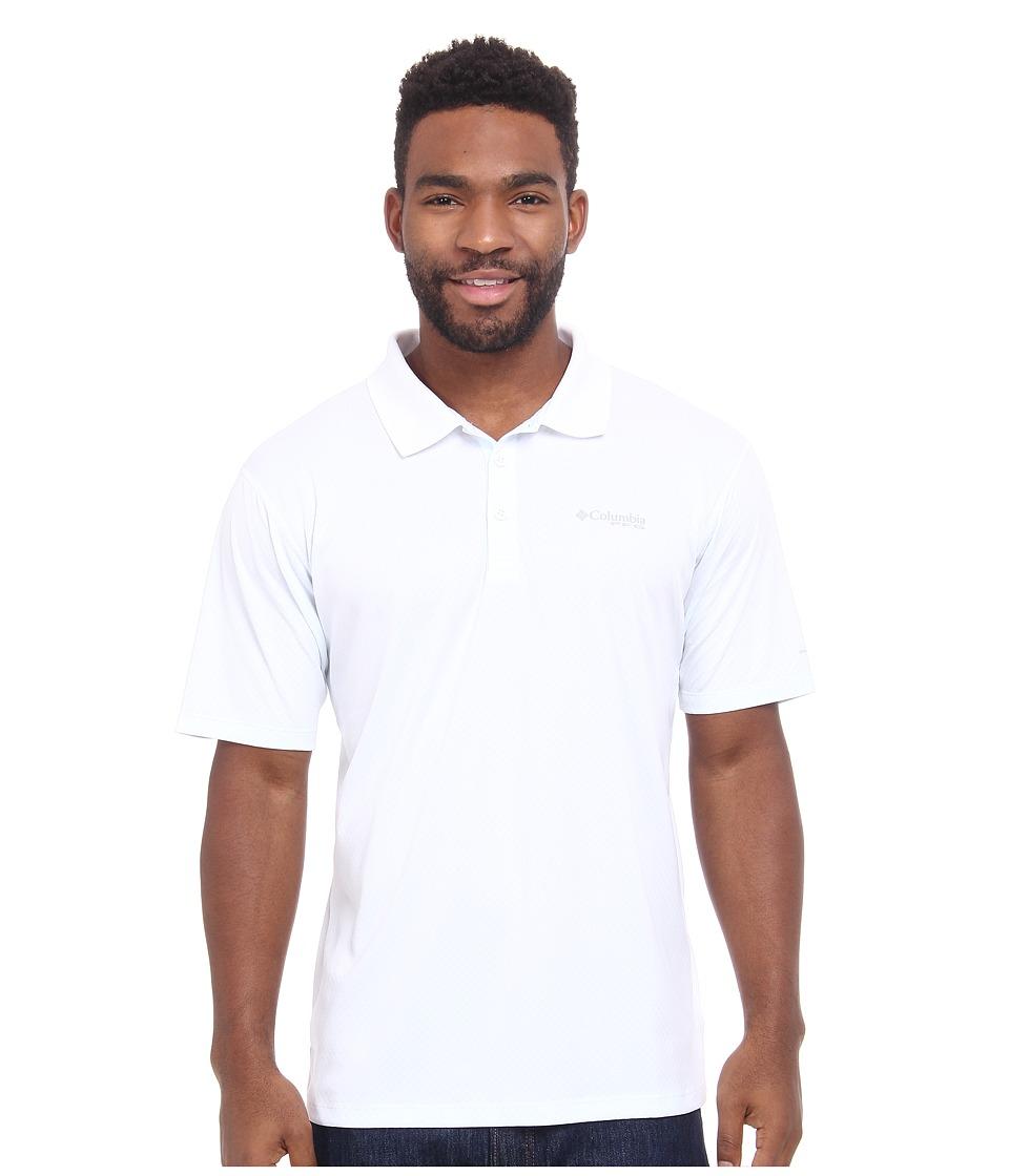 Columbia - PFG ZERO Rules S/S Polo (White) Men's Short Sleeve Pullover