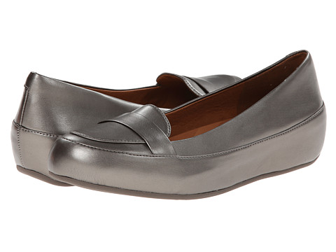 FitFlop - Due Pop Loafer (Pewter) Women's Flat Shoes
