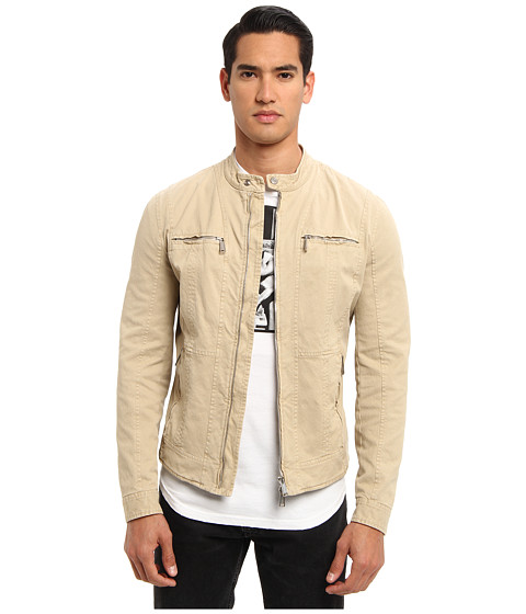 DSQUARED2 - Casual Biker Jacket (Beige) Men's Coat