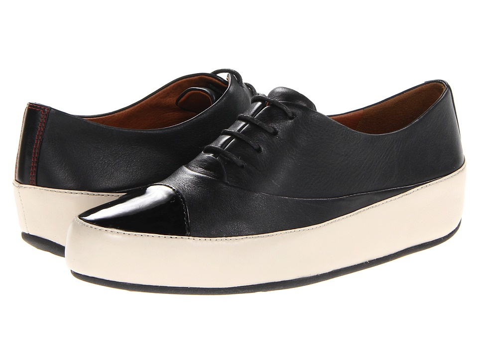 FitFlop - Due Oxford (Black/White) Women's Lace up casual Shoes