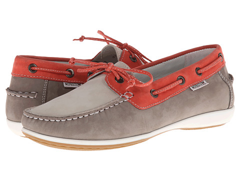 Mephisto - Afra (Light Grey/Coral/Off Whtie Bucksoft) Women