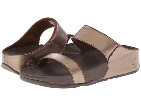 FitFlop - Lulu Slide (Bronze) Women's Sandals