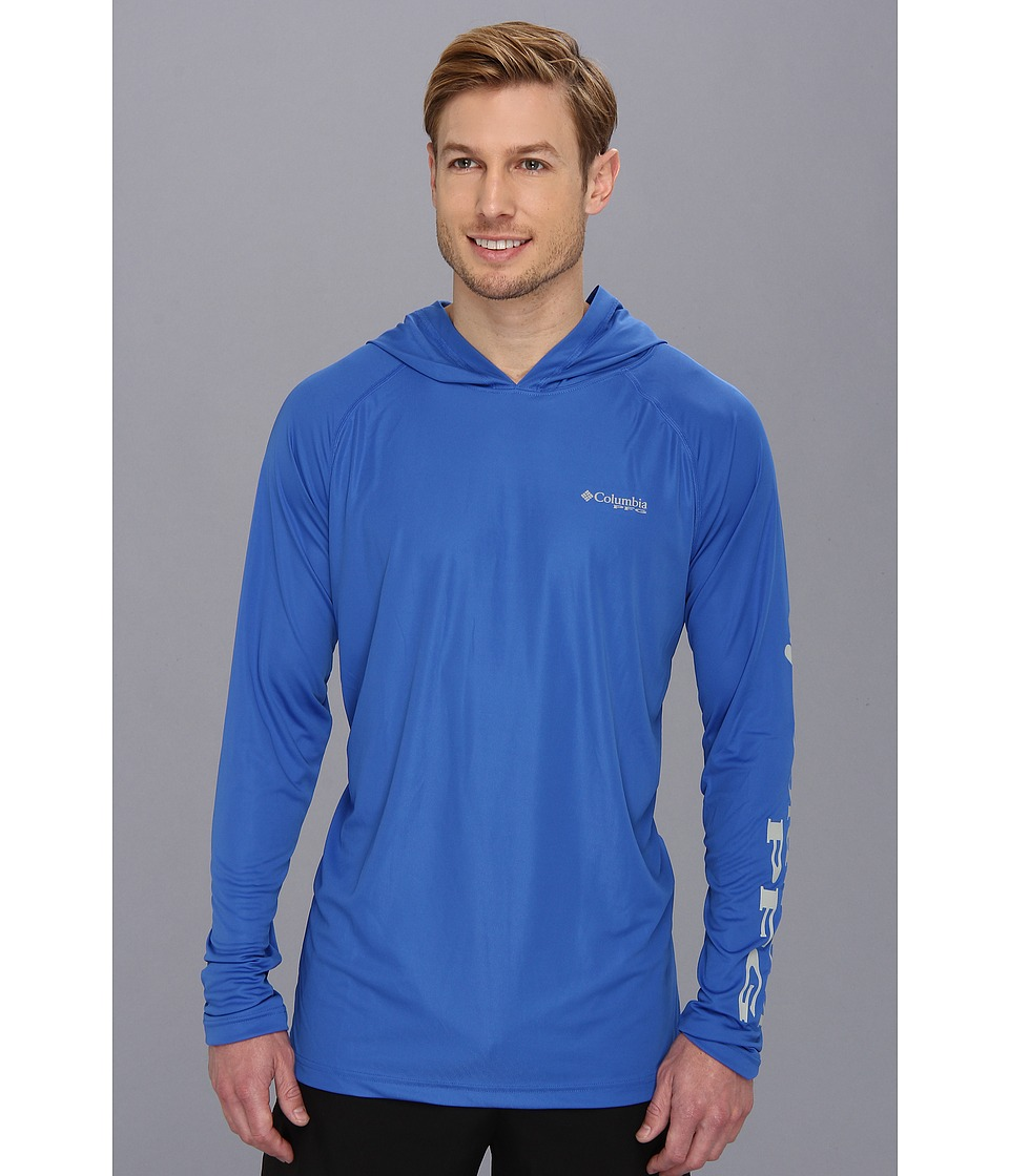 Columbia - Terminal Tackle Hoodie (Vivid Blue/Cool Grey) Men's Sweatshirt