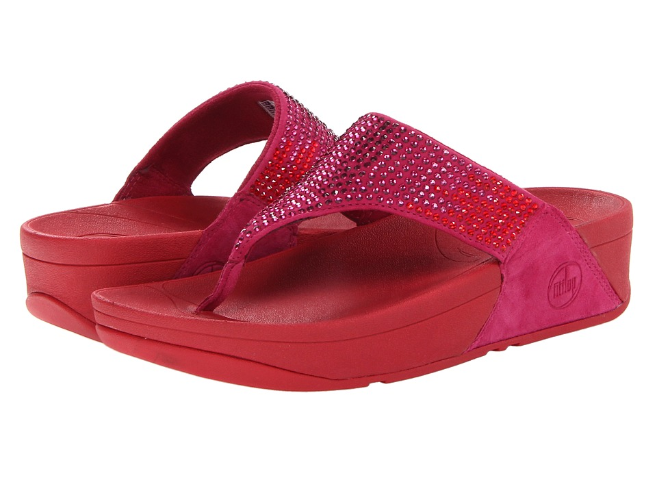 FitFlop - Flare Leather (Rio Pink Leather) Women's Sandals