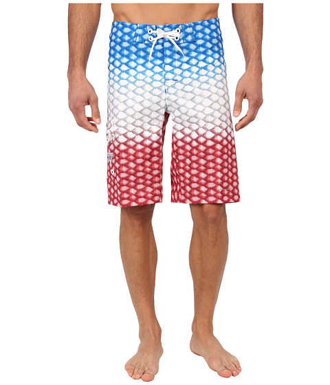 Columbia - PFG Offshore Boardshort (White American Scales) Men's Swimwear