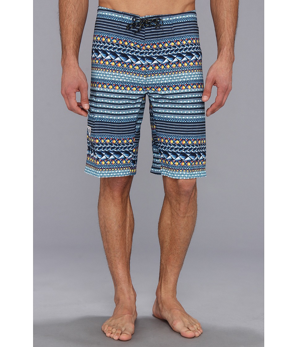 Columbia - PFG Offshore Boardshort (Gamerod Stripe) Men's Swimwear