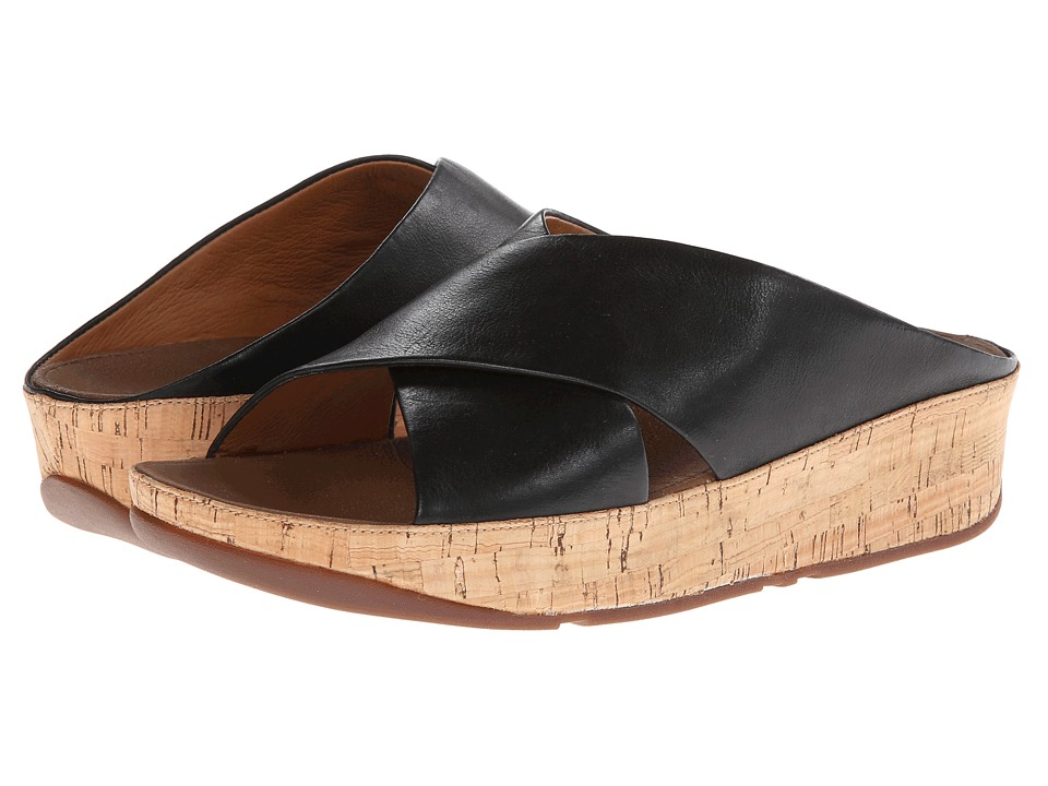 FitFlop Kys Leather (Black) Women