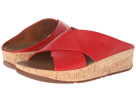 FitFlop - Kys Leather (FF Red) Women's Shoes