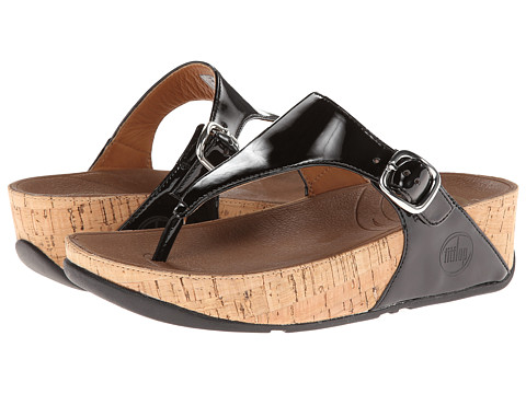 FitFlop - The Skinny Patent (Black) Women's Shoes