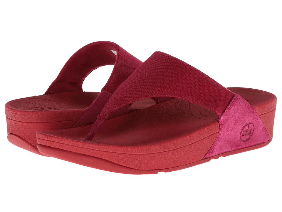 FitFlop - Lulu Canvas (Rio Pink) Women's Sandals