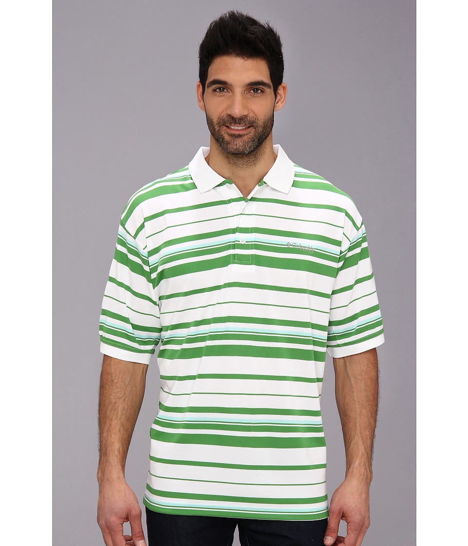 Columbia - Super Cast S/S Polo (Clean Green/Gulf Stream) Men's Short Sleeve Pullover
