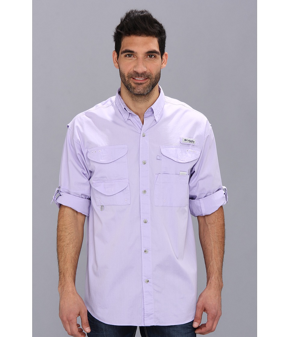 Columbia - Bonehead L/S Shirt (Whitened Violet) Men's Long Sleeve Button Up