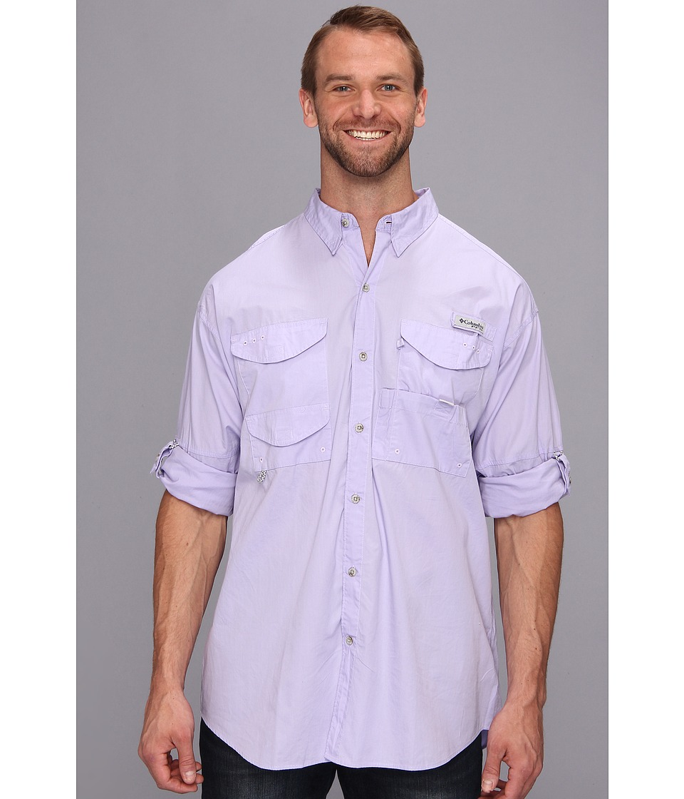 Columbia - Big Tall Bonehead L/S Shirt (Whitened Violet) Men's Long Sleeve Button Up