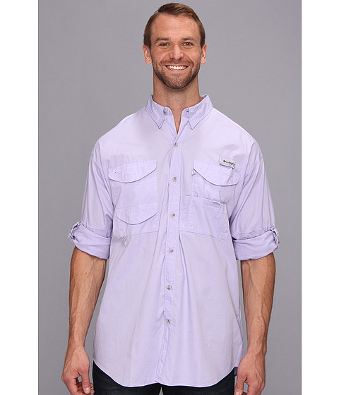 Columbia - Big Tall Bonehead Long Sleeve Shirt (Whitened Violet) Men's Long Sleeve Button Up