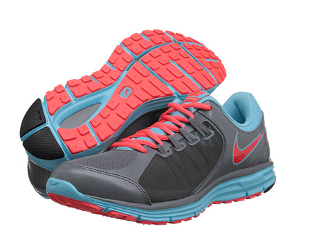 Nike - Lunar Forever 3 (Cool Grey/Laser Crimson) Women's Running Shoes