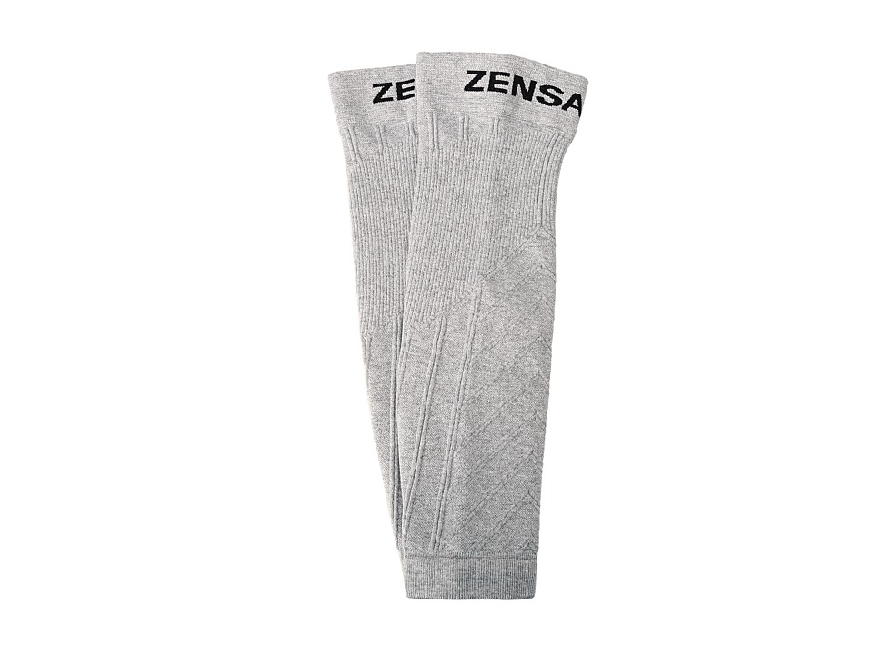 Zensah - Compression Leg Sleeves (Heather Silver) Athletic Sports Equipment