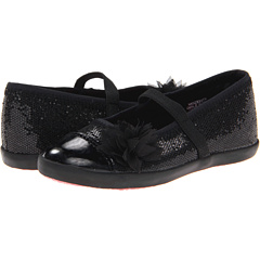 SALE! $14.99 - Save $29 on Morgan Milo Kids Ballet Skimmer MJ Crushed Glitter (Toddler Little Kid) (Black) Footwear - 65.93% OFF $44.00
