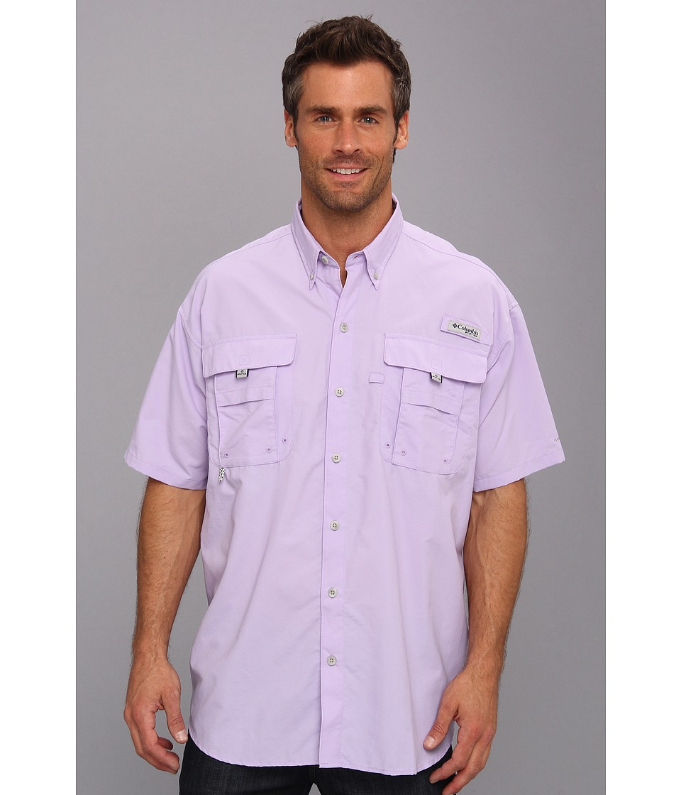 Columbia - Bahama II Short Sleeve Shirt (Whitened Violet) Men's Short Sleeve Button Up