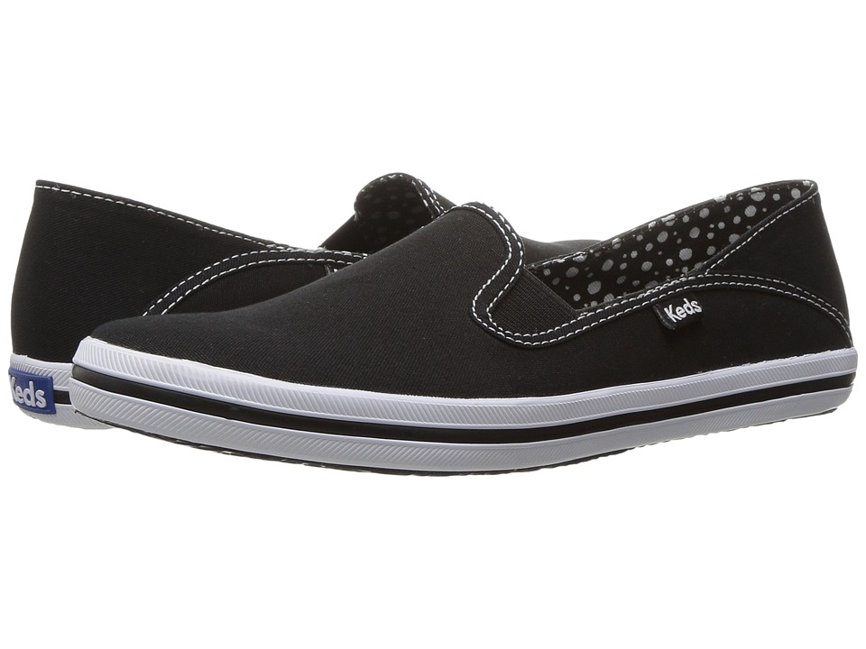 Keds Crash-Back Seasonal Solids (Black Canvas) Women