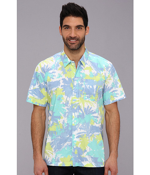 Columbia - Trollers Best S/S Shirt (White Cap Palms Marlin) Men