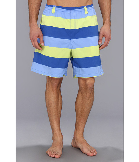 Columbia - Backcast II Printed Trunk (Vivid Blue Stripe) Men