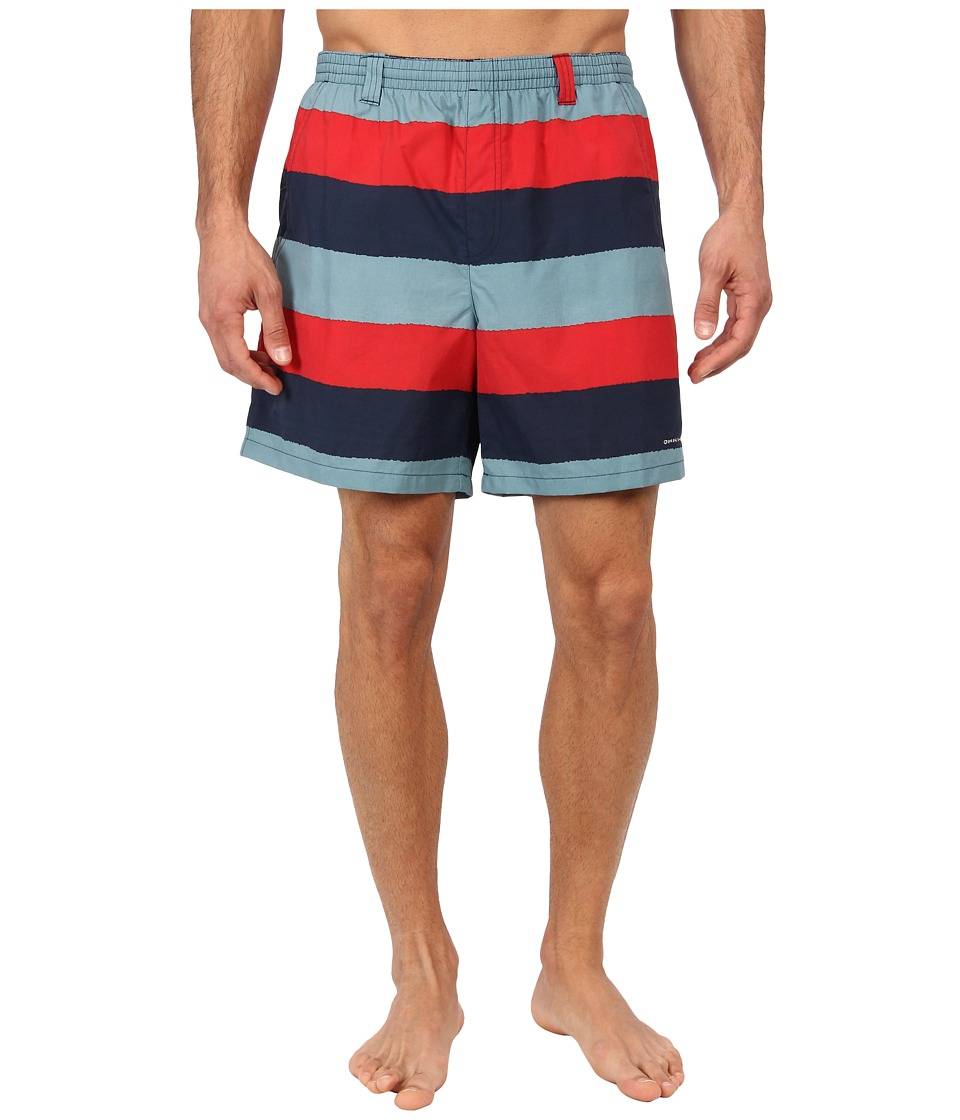 Columbia - Backcast II Printed Trunk (Sail Red Stripe) Men's Shorts